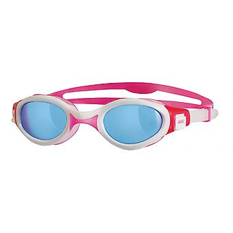 Zoggs Venus Womens Swim Goggles - Tinted Lens - White/Pink