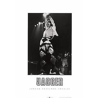 Mick Jagger On Stage Poster Print (20 x 28)
