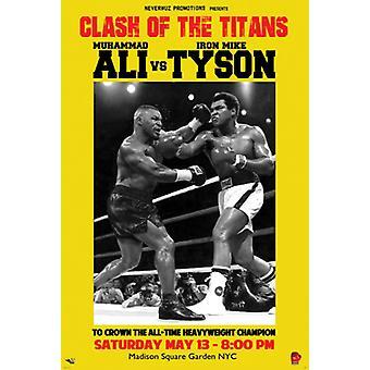 Muhammad Ali vs Mike Tyson Poster Print (12 x 18)