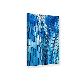 Casa de cristal impresión de lienzo