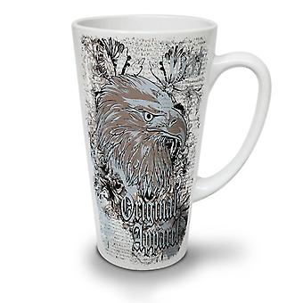 Eagle Head Old Vintage NEW White Tea Coffee Ceramic Latte Mug 17 oz | Wellcoda