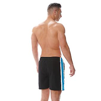 Zoggs Men's Muriwai Shorts in Blue / Black with a Fully Elasticated Waist - Chlorine Proof