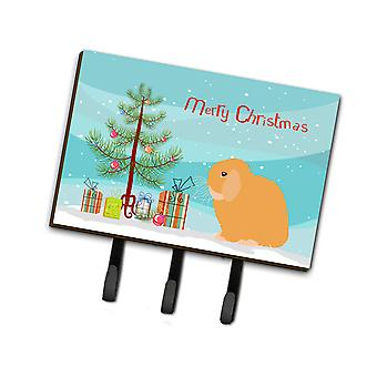 Carolines Treasures  BB9335TH68 Holland Lop Rabbit Christmas Leash or Key Holder