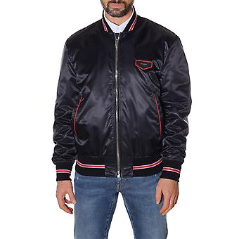 Givenchy men's BM001C1023001 black nylon jacket