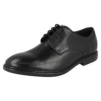 Mens Clarks Formal Shoes Banbury Lace - Black Leather - UK Size 9G - EU Size 43 - US Size 10M