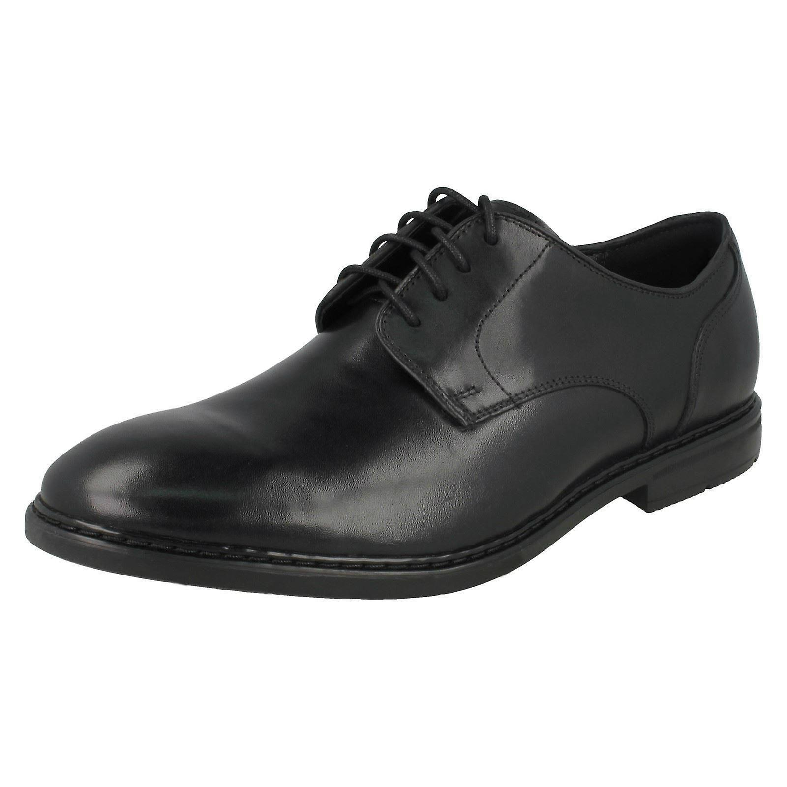 Herren Clarks formale Schuhe Banbury Lace - schwarzes Leder - UK Größe 9G - EU Größe 43 - US Size 10M