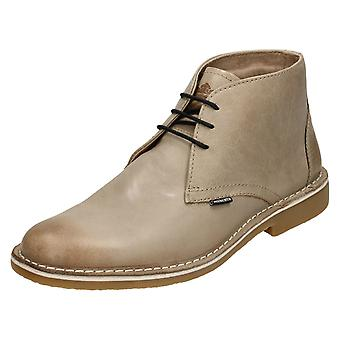 Mens Lambretta Ankle Boots Canary LG 14131 - Iceland Taupe Leather - UK Size 7 - EU Size 41 - US Size 8
