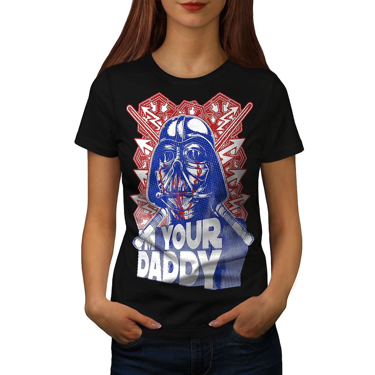 I'm Your Daddy War Funny Women Black T-shirt | Wellcoda