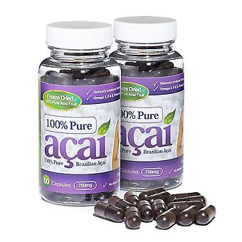100% Pure Acai Berry 700mg with No Fillers or Bulking Agents - 120 Capsules - Acai Berry - Evolution Slimming