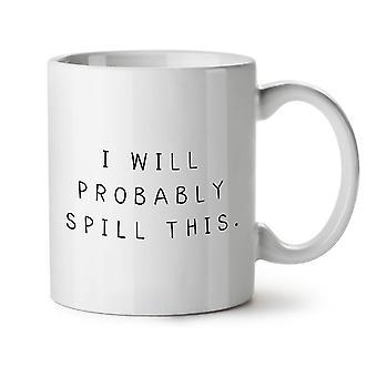 Sandsynligvis Spill denne nye hvide te kaffe keramik krus 11 ounce | Wellcoda