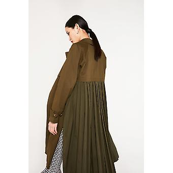 English Factory Trench Coat With Pleated Back