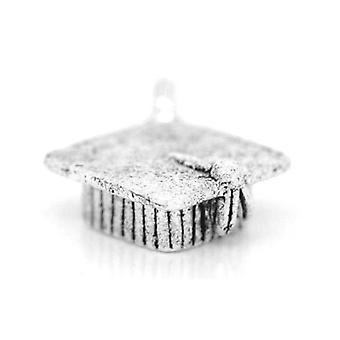 Packet 3 x Antique Silver Tibetan 17mm Graduation Hat Charm/Pendant ZX03650