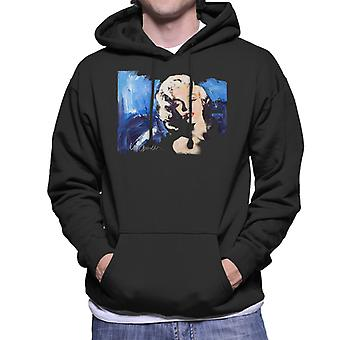 Sidney Maurer Original Portrait Of Marilyn Monroe Blonde Bombshell Men's Hooded Sweatshirt