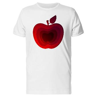 Modern Art Red Apple Tee Men's -Image by Shutterstock