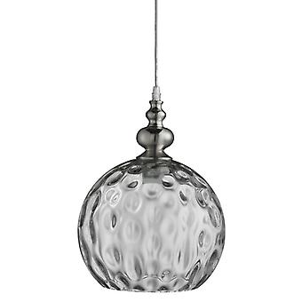 Indiana - 1 Light Pendant, Satin Silver, Clear Glass