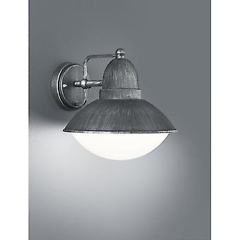 Trio Lighting Amur Modern Antique Silver Diecast Aluminium Wall Lamp