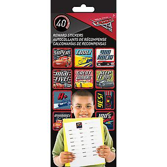 Teacher Reward Stickers 4 Sheets/Pkg-Cars 3