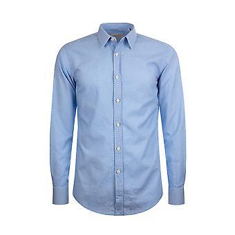 Fabio Giovanni Ravello Shirt - High Quality Italian Cotton Pale Blue Micro-Check Shirt