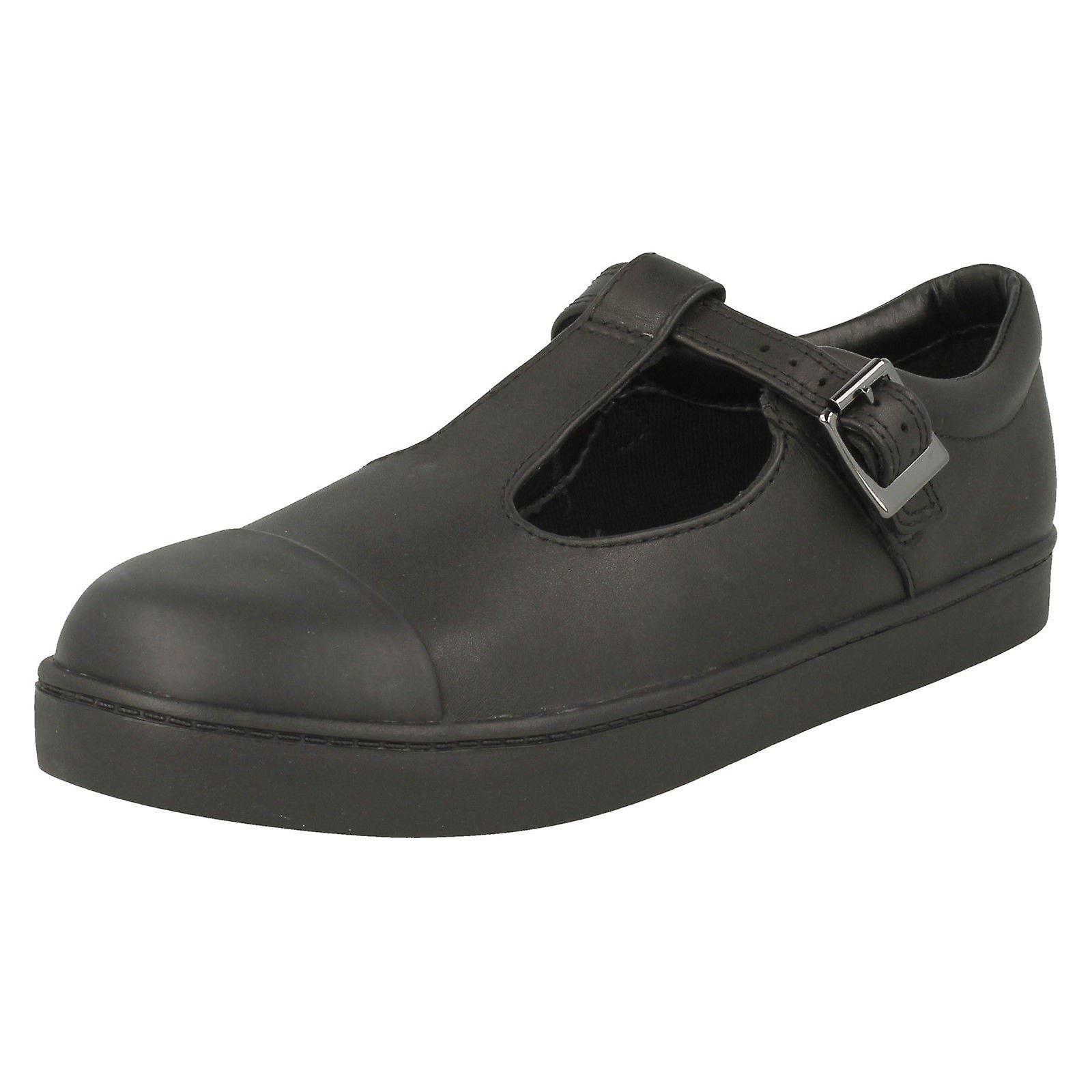 Girls Clarks T-Bar School chaussures City Tea