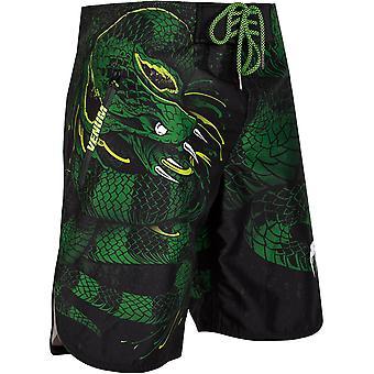 Verde de Venum Viper ligero lazo cierre MMA Boardshorts - negro/verde
