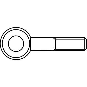 M4 x 25 mm Galvanised Steel Lifting Eye Bolts (50 pc(s))