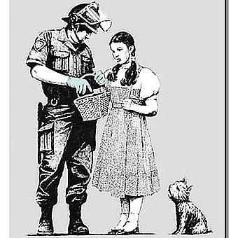 Banksy Policeman And Dorothy Drinks Mat / Coaster