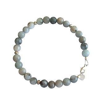Gemshine - Damen - Armband - Aquamarin - Blau - 925 Silber - 6 mm