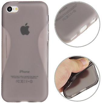 Schutzhülle TPU Case für Handy iPhone 5C (grau transparent)
