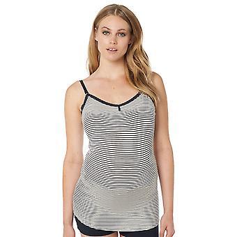 Noppies 20576-C165 Women's Elza Dark Blue Striped Maternity Pyjama Top