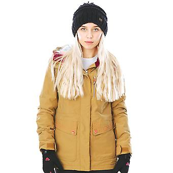 Roxy Bone Brown Torah Bright Andie Womens Snowboarding Jacket