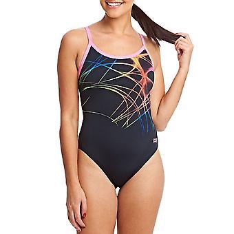 Zoggs Womens Flame Sprintback One Piece Swimsuit Swim Swimming Costume