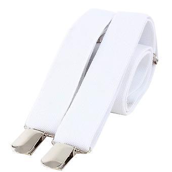 Knightsbridge halsdukar klippet på hängslen - vit