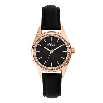 s.Oliver women's watch wristwatch leather SO-3677-LQ