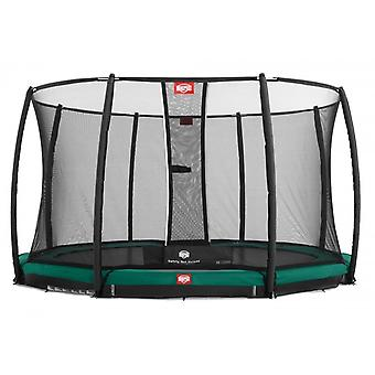 BERG InGround Champion 270 9ft Trampoline+ Safety Net Deluxe Green