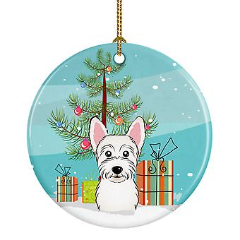 Carolines Treasures  BB1598CO1 Christmas Tree and Westie Ceramic Ornament