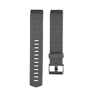 TPU strap compatible with Fitbit Charge 2-Black-L