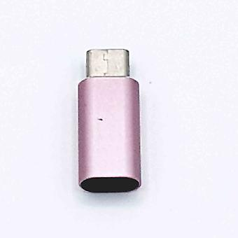 8 Pin Female naar Type C Male USB Adapter - Roze