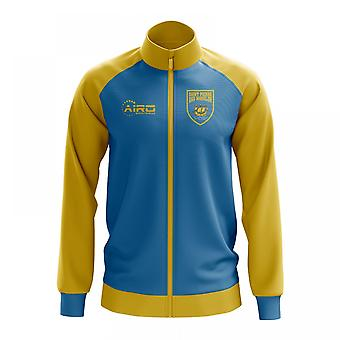 Saint Pierre and Miquelon Concept Football Track Jacket (Sky)