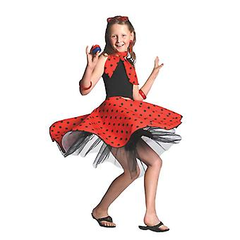 Rock N Roll Skirt Red, One Size.