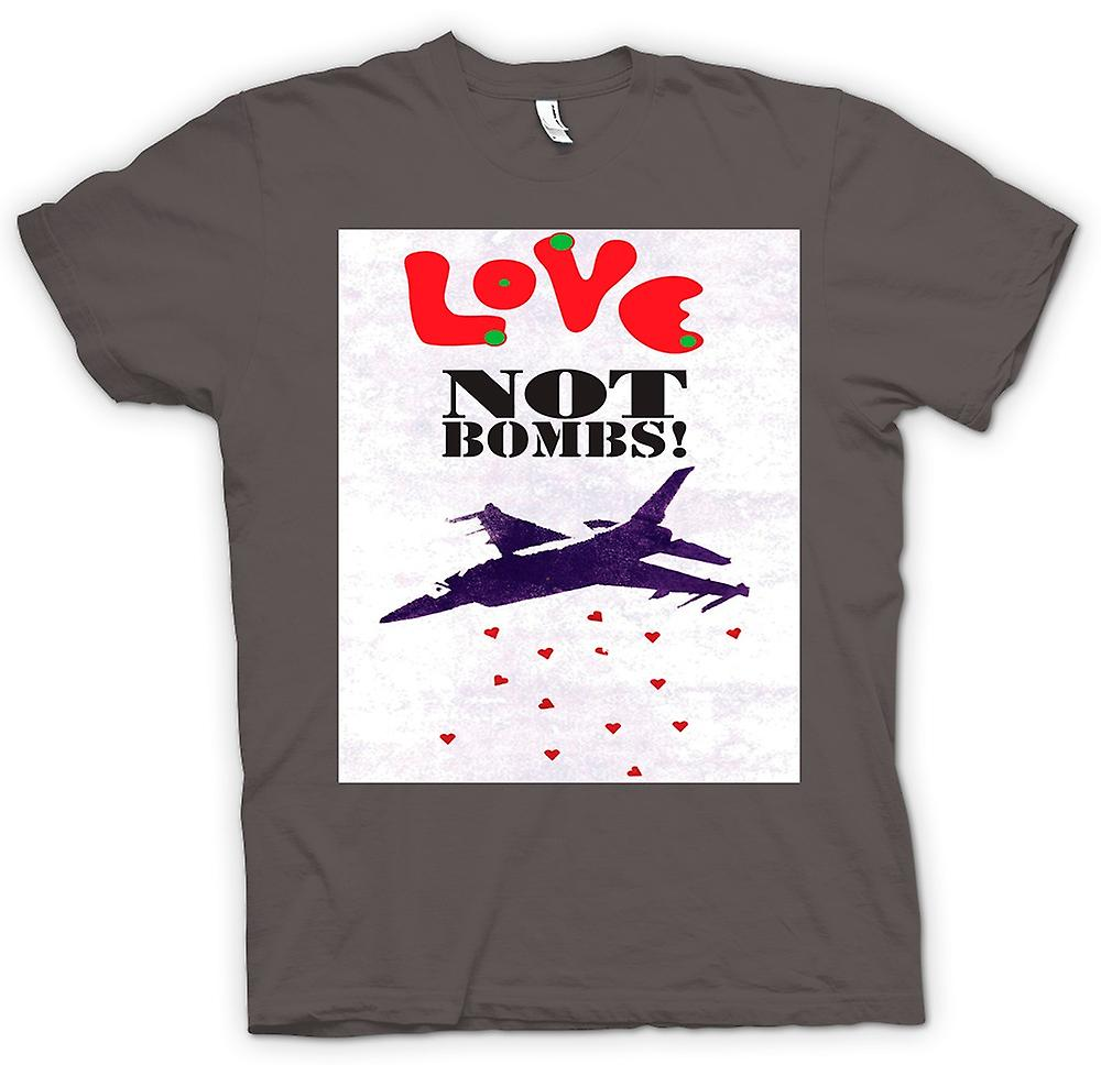 Womens T-shirt - Love Not Bombs - Peace