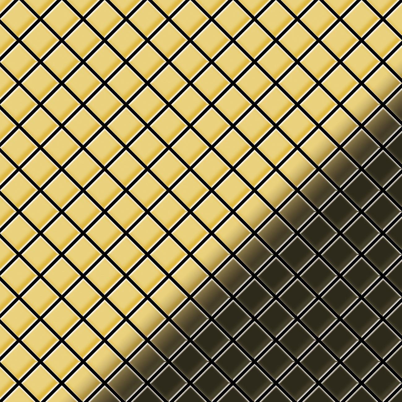 Mosaico de metal sólido Latón ALLOY Diamond-BM