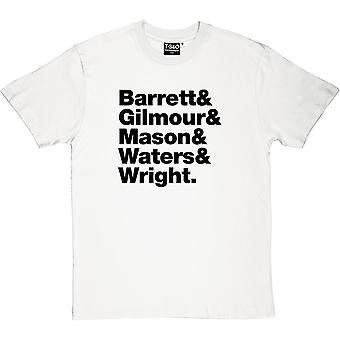 Pink Floyd Line-Up Herren T-Shirt