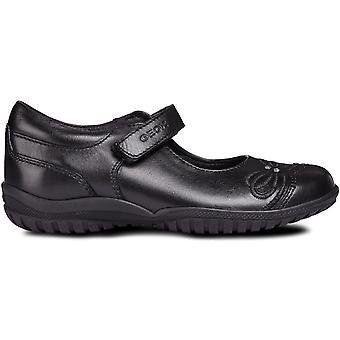Geox meninas sombra J84A6C escola sapatos preto