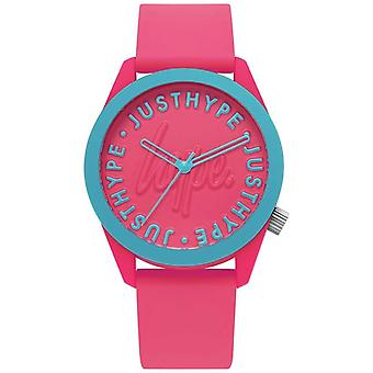 Hype | Ladies | Silicone Strap Bright Pink | HYL023P Watch