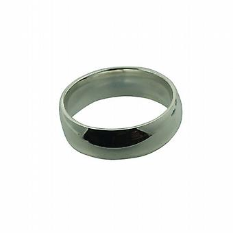 Silver 7mm plain Court Wedding Ring Size Z