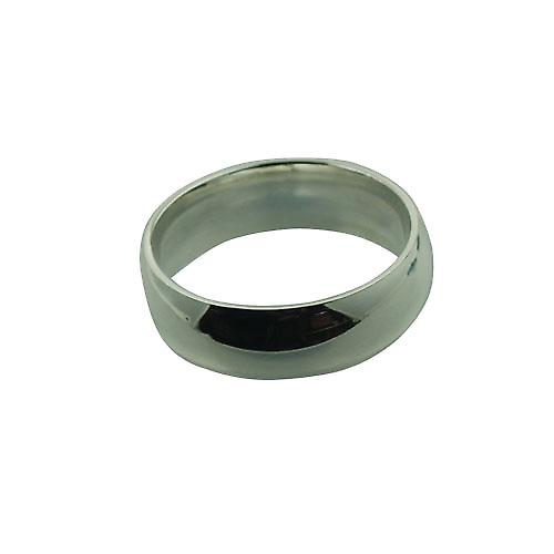 Silver 7mm plain Court wedding ring