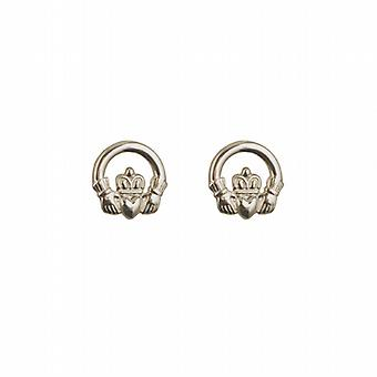 Zilveren 9mm Claddagh stud Earrings