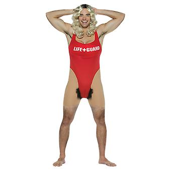 Mens Anita Waxing Lifeguard Baywatch Rude & Naughty Fancy Dress Costume