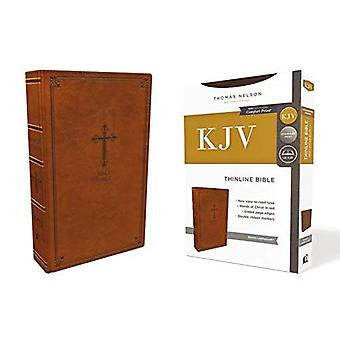 KJV, Thinline Bible, Leathersoft, Brown, Red Letter Edition, confort d'impression