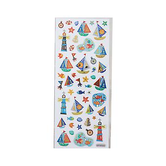 Holographic Foiled Fun Stickers - Seaside & Nautical | Under the Sea Crafts